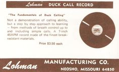 lohman duck call record