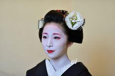 舞妓章乃 祝先笄 : ちょっとそこまで. Maiko Fumino