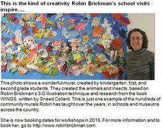 Robin Brickman inspires student artists. Robin's website: http://www.robinbrickman.com