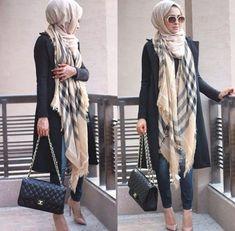 burberry scarf hijab style