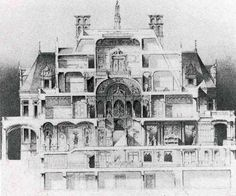 Cross section of Charles M. Schwab mansion