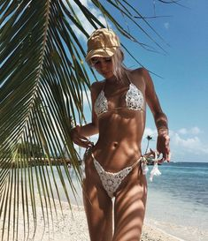 """8a674dd747784 Andi-bagus on Instagram  """"This babe  brittanyjason wearing the becca bikini  in white  sand  59 Lycra and cotton crochet combined on location in Hawaii  ..."""