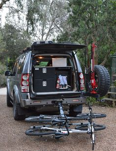 Land Rover Discovery 4 Bicycle Carrier - Lowered