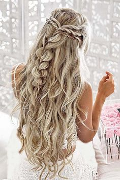 10 pretty braided hairstyles for the wedding - wedding hairstyles with long . - 10 pretty braided hairstyles for the wedding – wedding hairstyles with long hair – - Pretty Braided Hairstyles, Elegant Hairstyles, Hairstyles 2018, Gorgeous Hairstyles, Easy Hairstyles, Latest Hairstyles, Prom Hairstyles For Long Hair Half Up, Hairstyles For Dances, Hairstyles For Graduation