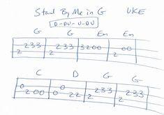 Ukulele Tabs Songs, Ukulele Fingerpicking Songs, Easy Guitar Songs, Music Tabs, Guitar Tabs, Stand By Me, Classical Guitar Sheet Music, Ukulele Stand, Guitar Notes