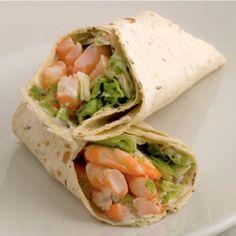 Wraps met garnalen - Wrap Recepten Wrap Recepten