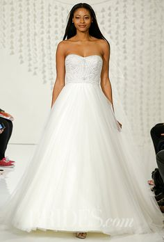A strapless @watterswtoo wedding dress   Brides.com