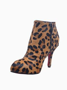 Leopard Pony Heeled Boots