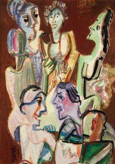 Debata by Pravoslav Kotík Pravoslav Kotík v Praze) byl český malíř a grafik. Prague, Auction, Artist, Painting, Artists, Painting Art, Paintings, Painted Canvas, Drawings