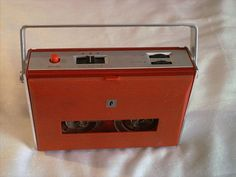 JC PENNY MODEL 6311 Reel to Reel Vintage Tape Recorder Portable RED  #JCPenney