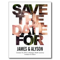 Chic-Blicks-Save the Date Karte Postkarte