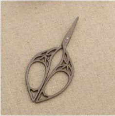 Metal Scissors - French Vintage Style - Leaf Shape. $12.30, via Etsy.