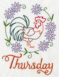 Image by EMBROIDERY LIBRARY INC - Country Chicken on Thursday (Vintage)