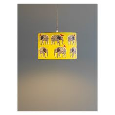 TOPSY Yellow and black printed lampshade D30 x H20cm