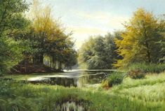 Artwork by Peder Mork Monsted, Early autumn in the forest, Made of Oil on canvas