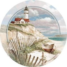 Thirstystone Occasions Drink Coasters, Beach Lighthouse