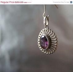 SALE until April 7th  Art Deco Pendant Purple by DresdenDollz,