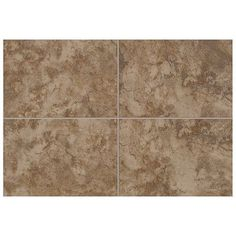"""Mohawk Pavin Stone 6"""" x 6"""" Bullnose Tile Trim in Brown Suede (Set of 2)"""