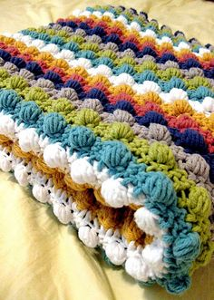 how to bobble crochet pattern. This is my favorite crochet pattern! Cant wait for mom to finish my blanket, & now i can learn it myself!