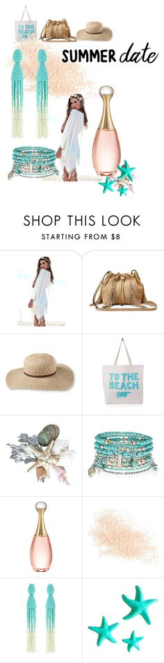 """Beach date"" by aleshasmurf ❤ liked on Polyvore featuring Diane Von Furstenberg, L.L.Bean, ALPHABET BAGS, Accessorize, Christian Dior, Eve Lom, Oscar de la Renta and Dot & Bo"