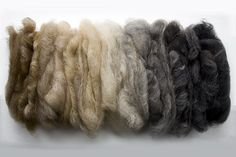 natural colors of wool - BFL ~ long staple. colours mixed more than 'she' expected but I think it looks great! Didn't realise how much variety there is in BFL family. Wool Yarn, Knitting Yarn, Wool Felt, Spinning Wool, Hand Spinning, Sheep Wool, Needle Felting, Color Mixing, Fiber Art