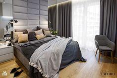 Nowoczesna Ciepła Sypialnia - zdjęcie od Klaudia Tworo Projektowanie Wnętrz