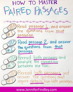 Help your students master paired passages with the steps shared on this paired passage anchor chart. passages 6 Ways to Effectively Teach Paired Texts and Paired Passages {Free Posters and Center} 5th Grade Ela, Third Grade Reading, Middle School Reading, Fourth Grade, Reading Strategies, Reading Skills, Teaching Reading, Reading Comprehension, Learning