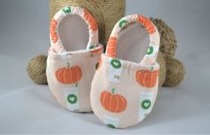 Limited Edition Pumpkin Spice Latte Baby Shoes  by TheKeenBean
