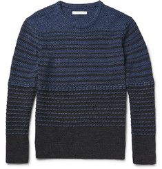 Outerknown - Frequency Striped Organic Cotton Sweater