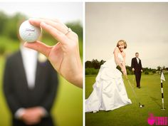 cute golf wedding photo. truelovephoto.com