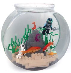 LEGO Fishbowl MOC by Armothe, via Flickr