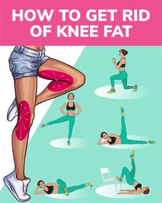 How to Get Rid of Knee Fat with Effective Exercises at Home - - Want to have sexy slim legs, try the workout below! The exercises will help to get rid of knee fat and make your legs look fabulous! Try and enjoy the results! Easy At Home Workouts, Cardio Workout At Home, Fun Workouts, Workout Routines, Lifting Workouts, Fitness Workouts, Fitness Tips, Health Fitness, Funny Fitness