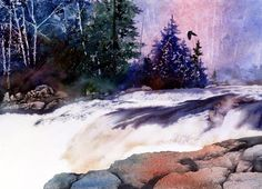 White Waters (Watercolor)