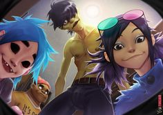 Gorillaz fan art by Torzaio