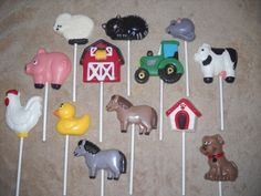 1 chocolate farm john deere inspired horse cow lollipops lollipop | sapphirechocolates - Edibles on ArtFire