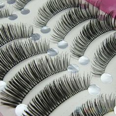 10 Pairs Natural Long Thick False Eyelashes Beauty Makeup Eye Lashes Extension 2SS1 #Affiliate