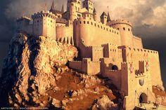 Castle, Sviatoslav Gerasimchuk on ArtStation at https://www.artstation.com/artwork/6NgzW