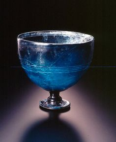 Hellenistic Cast Glass Footed Cup | Flickr - Photo Sharing!