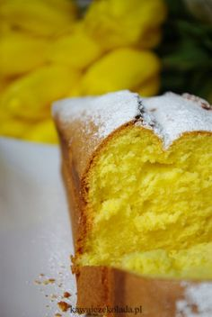 Babka złocista z przepisu od mamy Polish Desserts, Polish Recipes, Holiday Desserts, Fun Desserts, Sweet Recipes, Cake Recipes, Apple Pie Bars, Different Cakes, Recipes