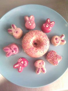 quite possibly the cutest bunny donuts ever made! via @babycakesnyc
