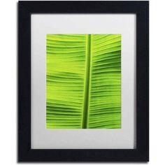 Trademark Fine Art 'Leaf Texture Viii' Canvas Art by Cora Niele, White Matte, Black Frame, Size: 11 x 14, Multicolor