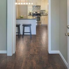 Pergo XP Rustic Espresso Oak 10 mm Thick x 6-1/8 in. Wide x 54-11/32 in. Length Laminate Flooring (1001.28 sq. ft. / pallet)-LF000822P - The Home Depot #flooringideaslaminate Dark Laminate Floors, Laminate Flooring Bathroom, Types Of Hardwood Floors, Modern Wood Floors, Living Room Hardwood Floors, Maple Hardwood Floors, Wood Flooring, Flooring Ideas, Engineered Hardwood