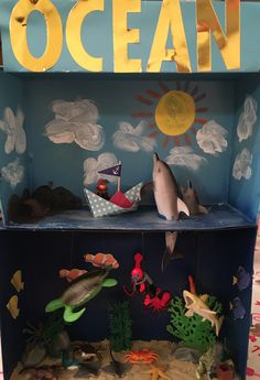 Ocean diorama … More Ocean diorama … Science Activities, Science Projects, School Projects, Projects For Kids, Diy For Kids, Activities For Kids, Crafts For Kids, Art Projects, Ocean Diorama
