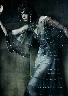 "kathymyst: """"the haute couture"" frida gustavsson by paolo roversi vogue italia 2011 """