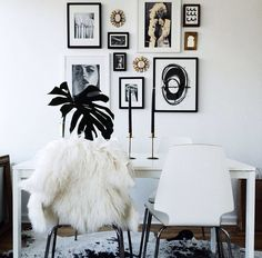 a balance in textures + a curated collection of wall art