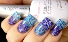 Weekly Mani: Gradient Stamp Design aka I Need a Housekeeper | Ten Little Canvases