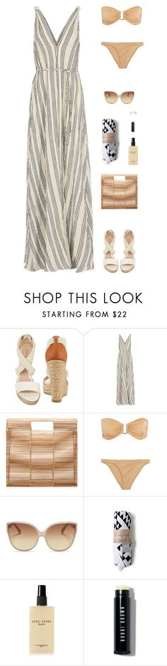 """Sin título #4907"" by mdmsb on Polyvore featuring moda, Jean-Michel Cazabat, LoveShackFancy, Cult Gaia, Melissa Odabash, Linda Farrow y Bobbi Brown Cosmetics"