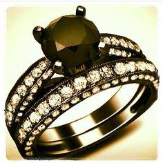 List of pretty  affordable black diamond engagement rings