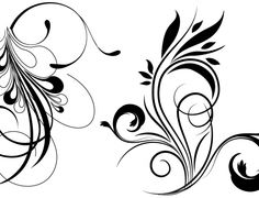 Free floral vector by Xcutiner. Flourish