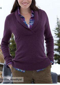 Eddie Bauer Cloud Shawl Collar Sweater